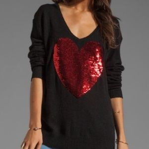 Wildfox Couture Heart Sequin sweater! Valentine's